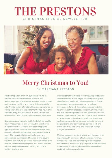Christmas Family Newsletter Template Free Best Of Customize 719 Newsletter Templates Online Page 4 Canva