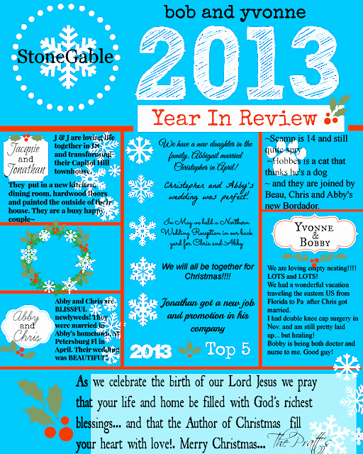 Christmas Family Newsletter Template Free Elegant 2013 Year In Review Stonegable