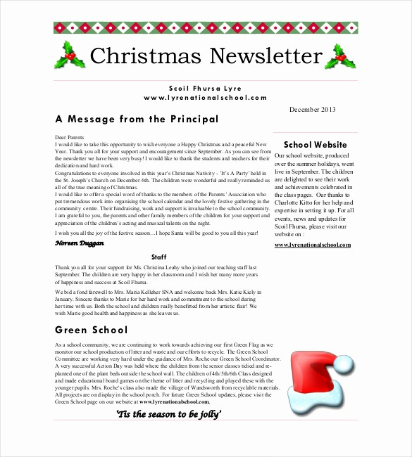 Christmas Family Newsletter Template Free Fresh Christmas Newsletter Template – 8 Psd Pdf formats