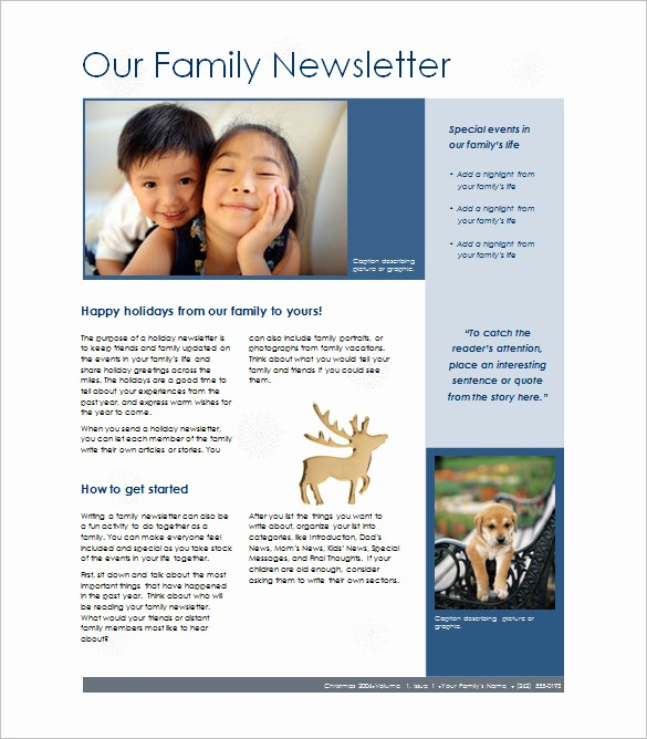 Christmas Family Newsletter Template Free Lovely 7 Family Newsletter Templates – Free Word Documents