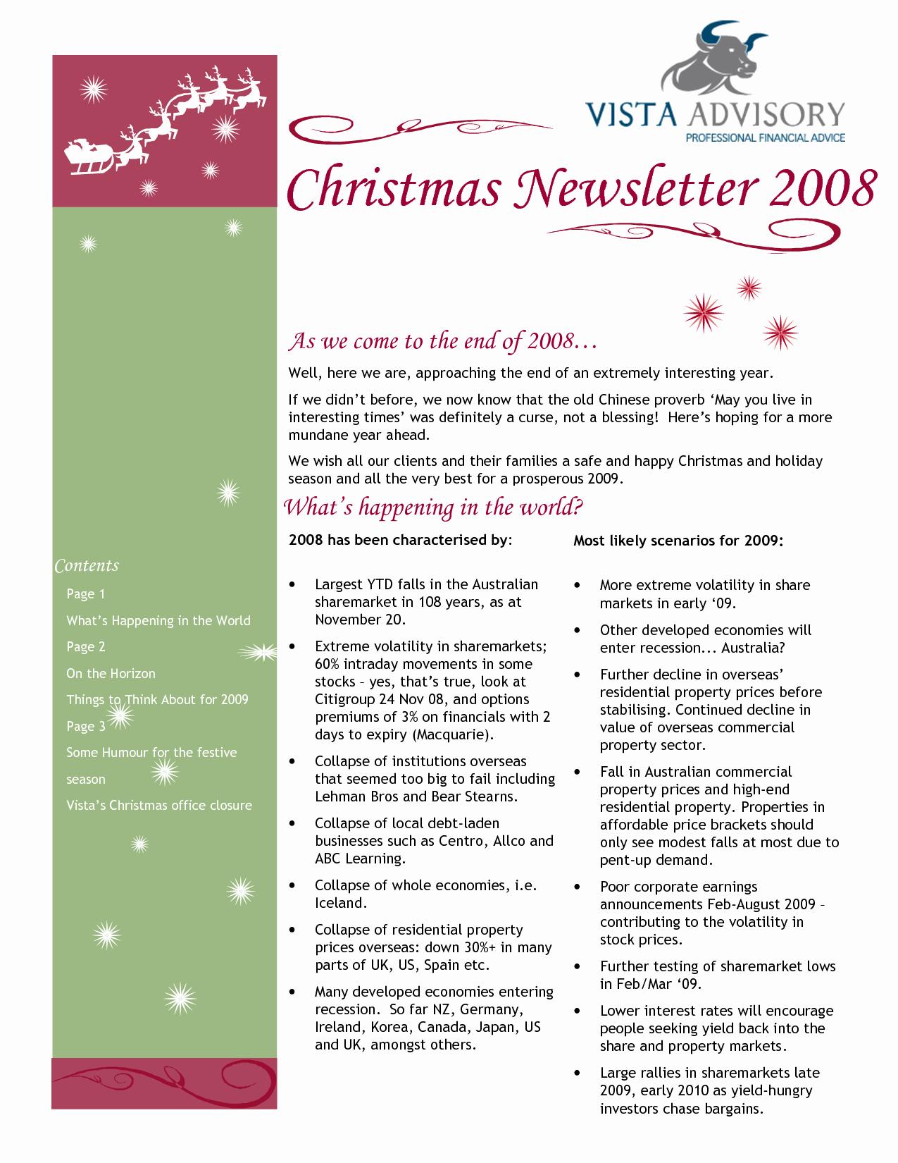 Christmas Family Newsletter Template Free Lovely Best S Of Family Annual Christmas Letter Examples