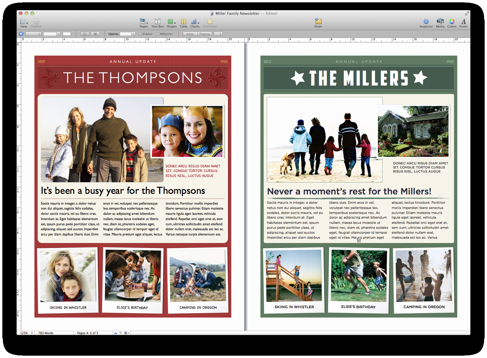 Christmas Family Newsletter Template Free Lovely Create A Holiday Newsletter with Pages or I
