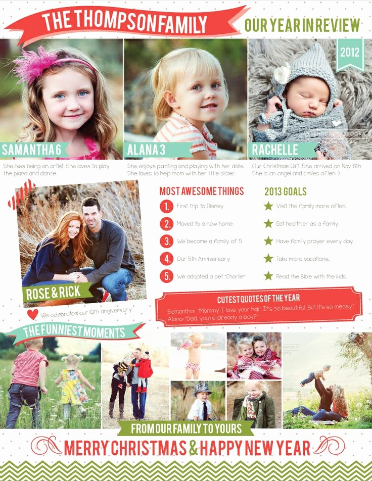 Christmas Family Newsletter Template Free Luxury Free Family Newsletter Template 2012 A Year In Review