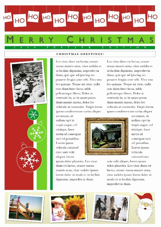 Christmas Family Newsletter Template Free New 19 Free Christmas Letter Templates Downloads Free
