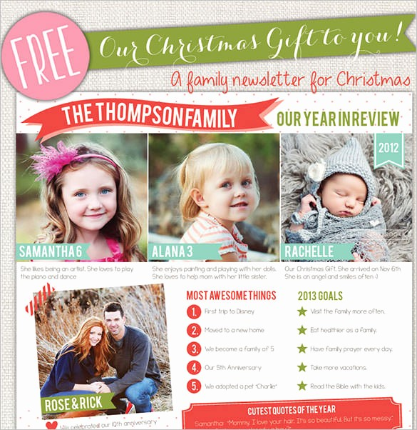 Christmas Family Newsletter Templates Free Awesome 38 Christmas Email Newsletter Templates Free Psd Eps