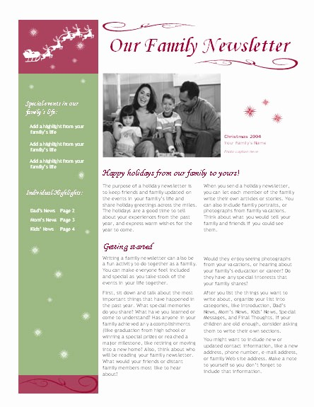 Christmas Family Newsletter Templates Free Awesome Best S Of Holiday Family Newsletter Template