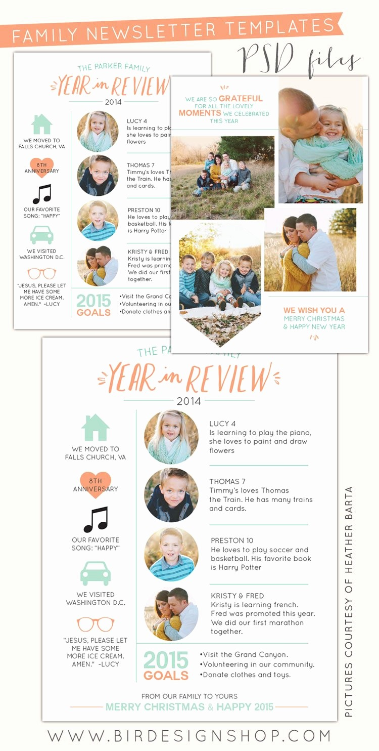 Christmas Family Newsletter Templates Free Best Of Free Photoshop Year In Review Newsletters