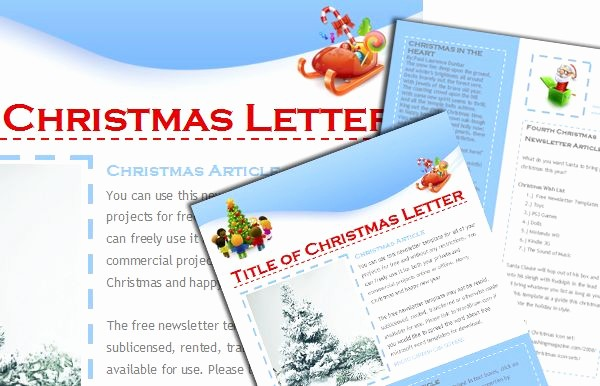 Christmas Family Newsletter Templates Free Elegant Free Christmas Newsletter Templates Include when Sending