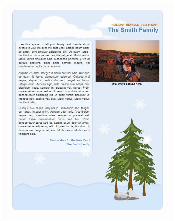 Christmas Family Newsletter Templates Free Fresh 9 Holiday Newsletter Templates – Free Word Documents