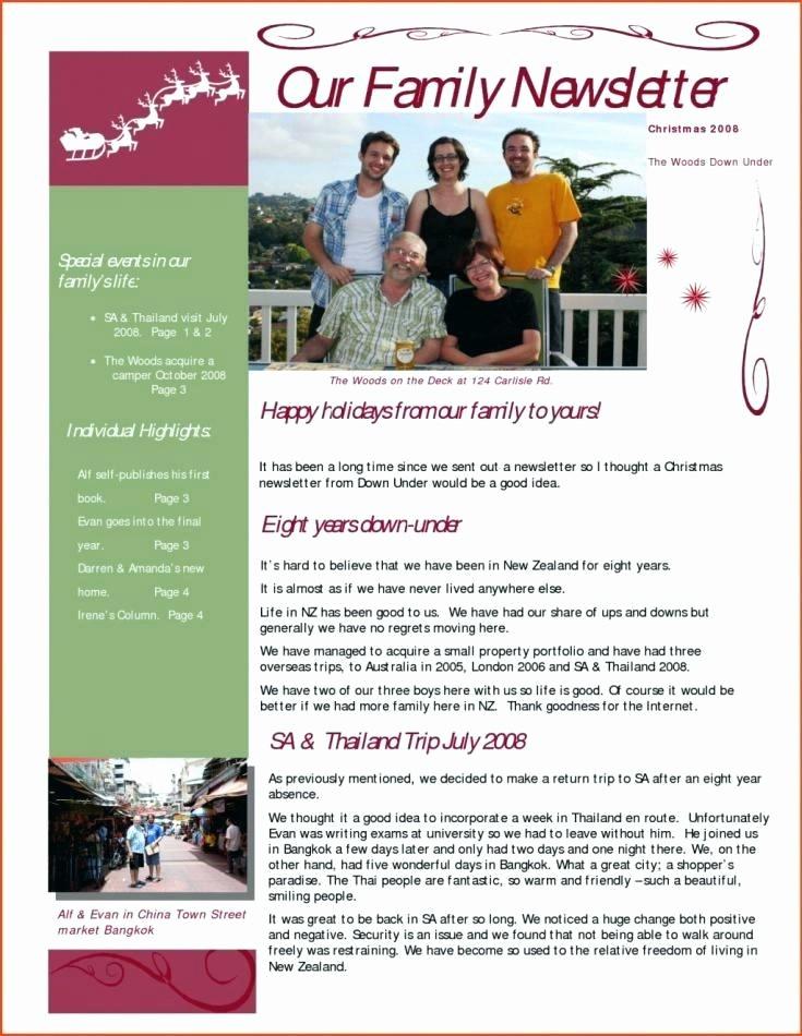 Christmas Family Newsletter Templates Free Fresh Christmas Newsletter Template Family Holiday Newsletter