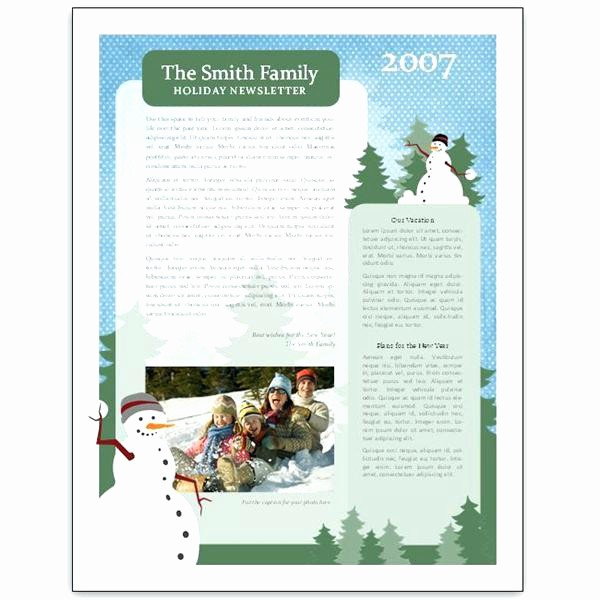 Christmas Family Newsletter Templates Free Fresh Microsoft Word Holiday Templates – Puntogov