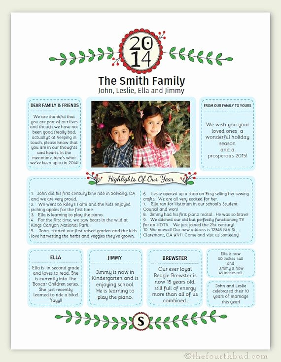 Christmas Family Newsletter Templates Free Inspirational Best 25 Christmas Letter Template Ideas On Pinterest