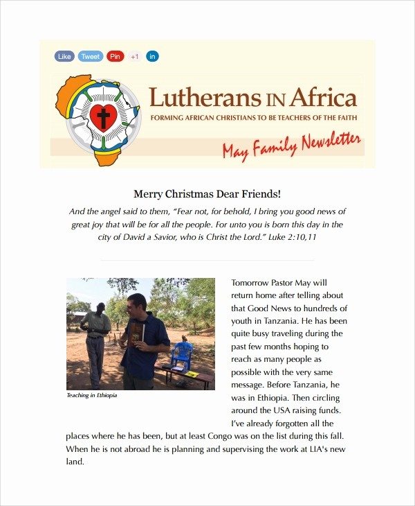 Christmas Family Newsletter Templates Free Lovely 10 Family Newsletter Templates
