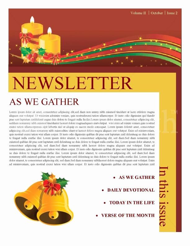 Christmas Family Newsletter Templates Free Lovely Christmas Newsletter