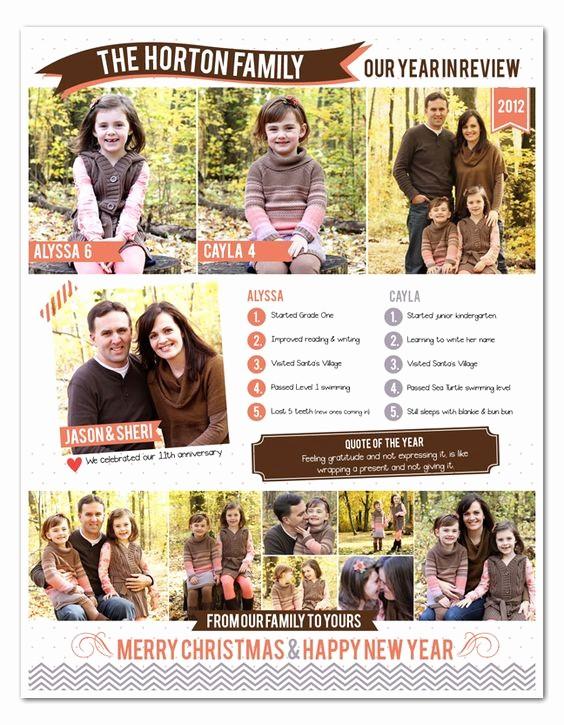 Christmas Family Newsletter Templates Free Luxury Pinterest • the World's Catalog Of Ideas