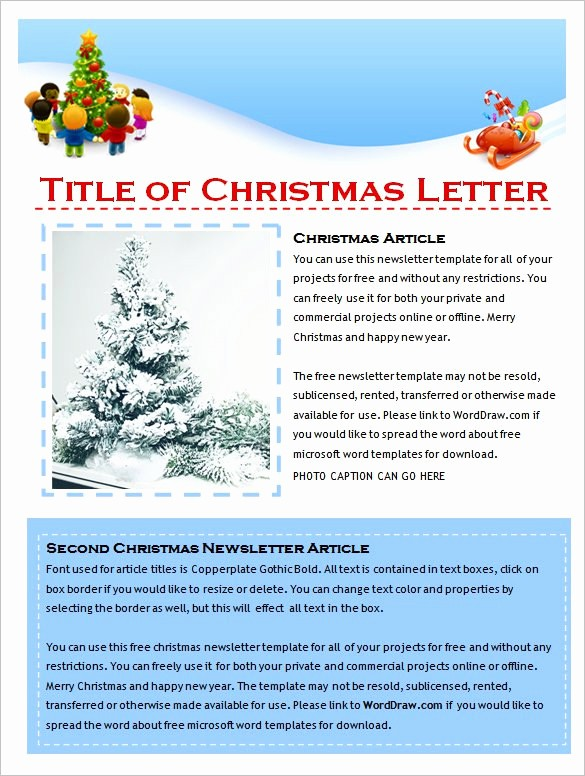 Christmas Family Newsletter Templates Free New 27 Microsoft Newsletter Templates Doc Pdf Psd Ai