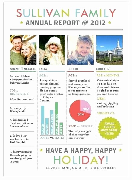 Christmas Family Newsletter Templates Free Unique Year In Review Letter Template for Adobe Reader This