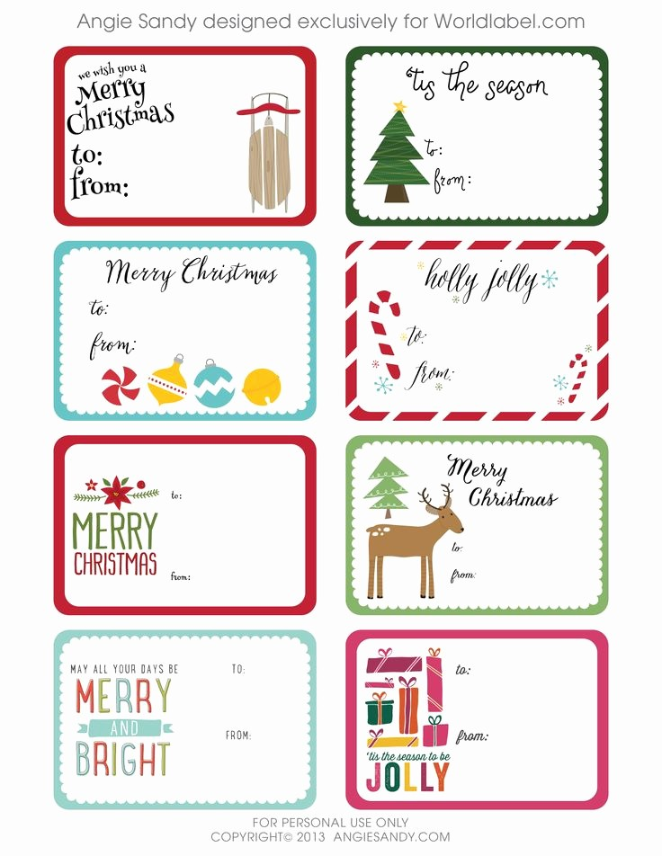 Christmas Gift Tag Template Word Awesome 240 Best Christmas Labels and Christmas Label Templates
