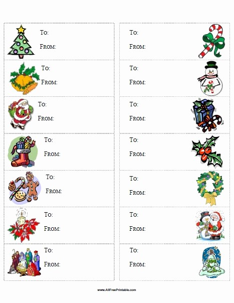 Christmas Gift Tag Template Word Awesome Christmas Gift Labels Templates Word – Fun for Christmas