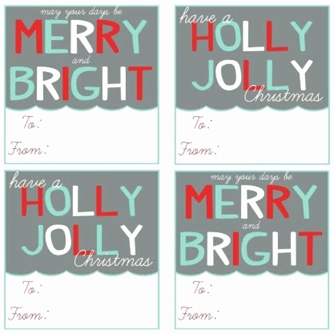 Christmas Gift Tag Template Word Awesome School event Name Tag Template Christmas Free Printable