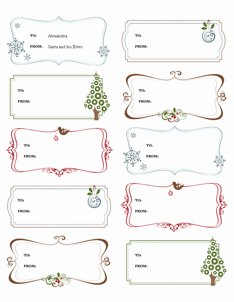 Christmas Gift Tag Template Word Fresh Free Printable Label Templates for Word top Label Maker