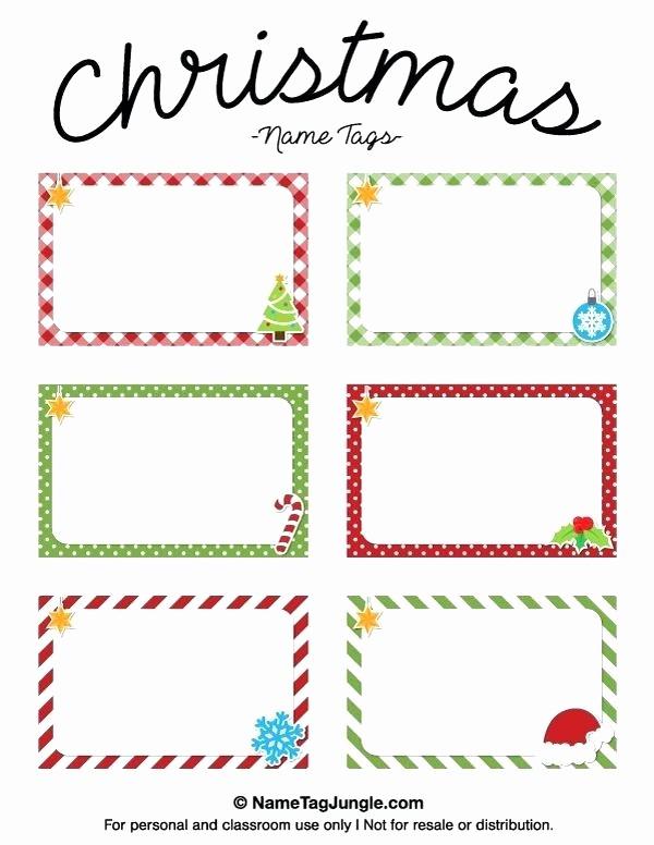 Christmas Gift Tag Template Word Inspirational Present Tags Templates Free Christmas Gift Tag Template