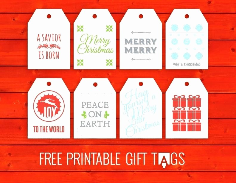 Christmas Gift Tag Template Word Inspirational Printable Gift Tags Templates S Template Word Free