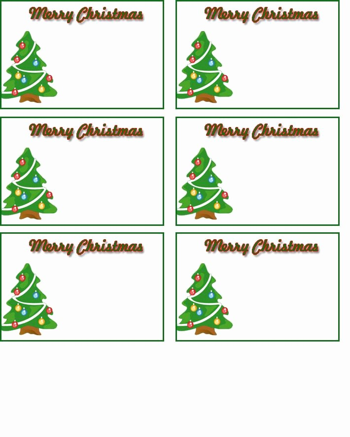 Christmas Gift Tag Template Word New Free Printable Name Tags Templates Christmas