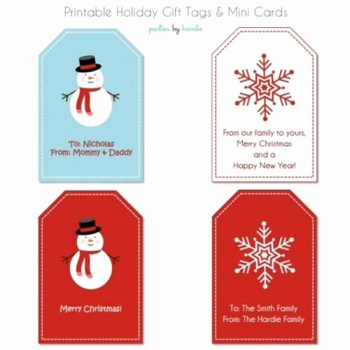 Christmas Gift Tags Template Free Awesome 17 Free Printable Christmas Gift Tags – Tip Junkie
