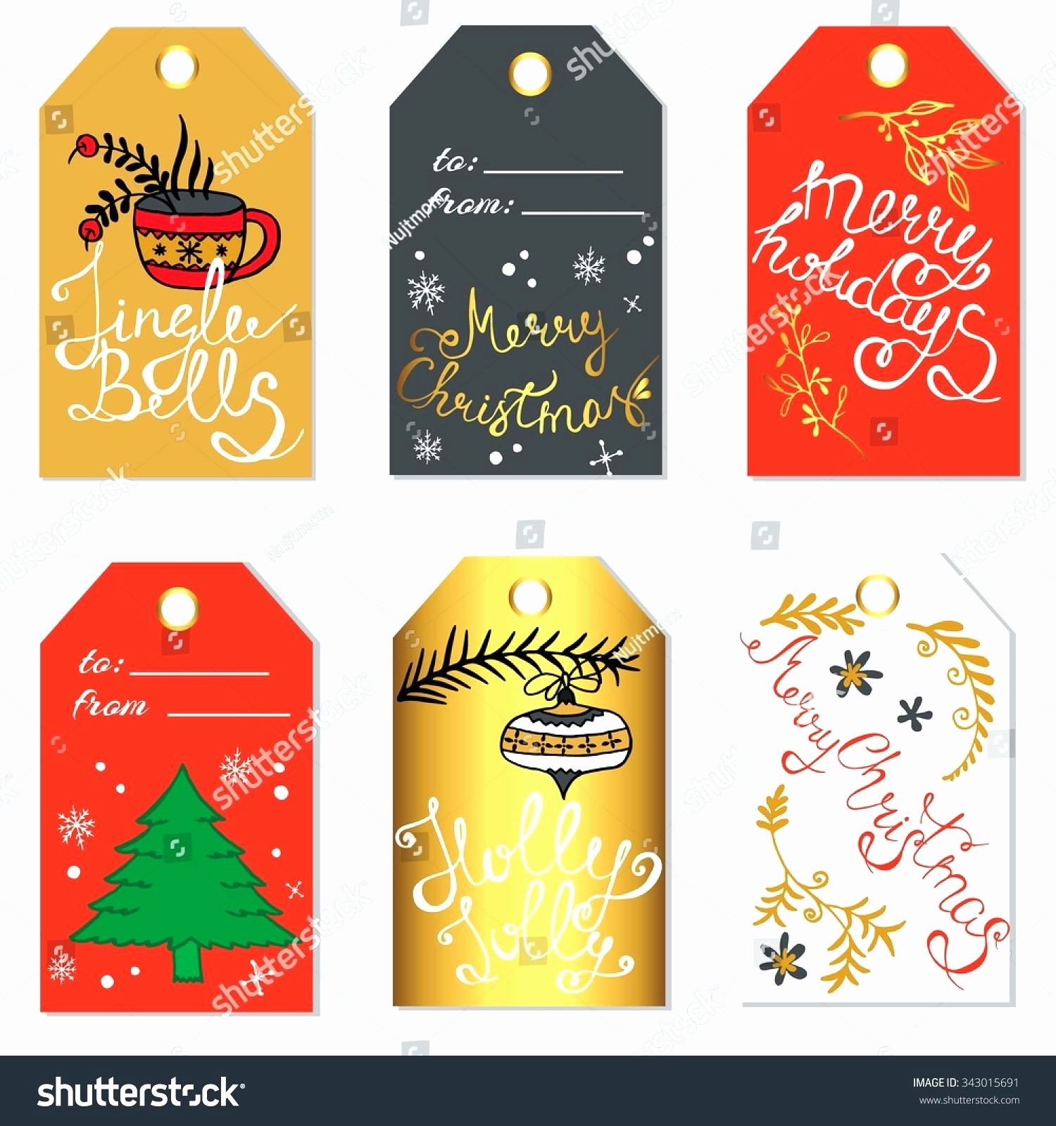 Christmas Gift Tags Template Free Beautiful Christmas Gift Labels Template