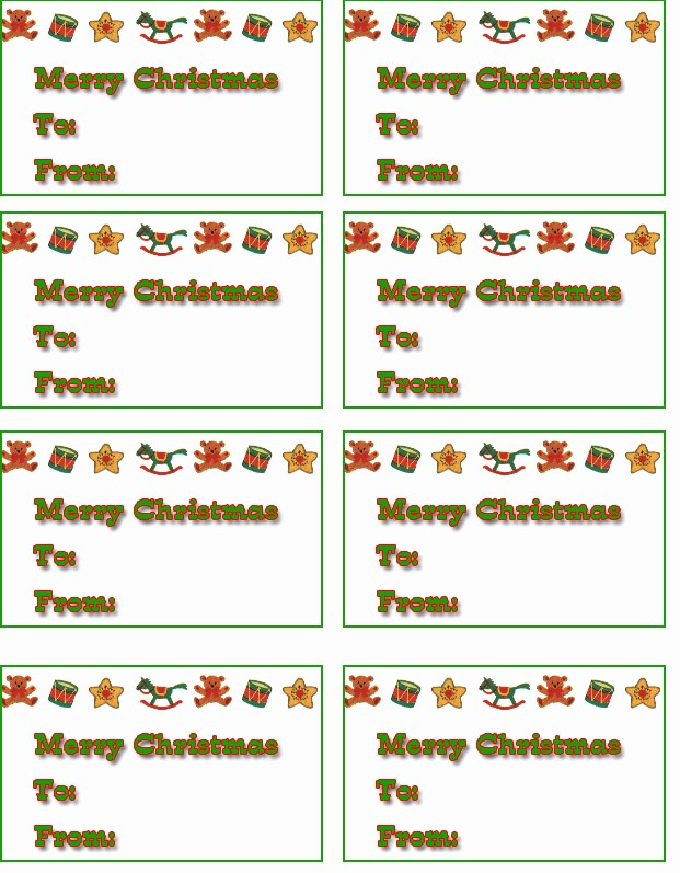 Christmas Gift Tags Template Free Elegant 7 Best Of Free Printable Christmas Tags Templates