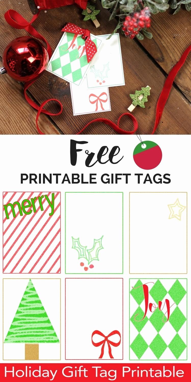 Christmas Gift Tags Template Free Fresh Free Printable Christmas Gift Tags