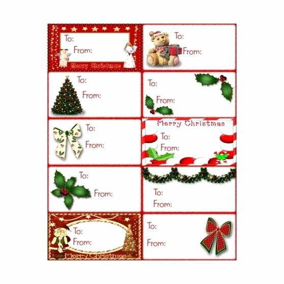 Christmas Gift Tags Template Free Inspirational Free Christmas Gift Tag Template Word