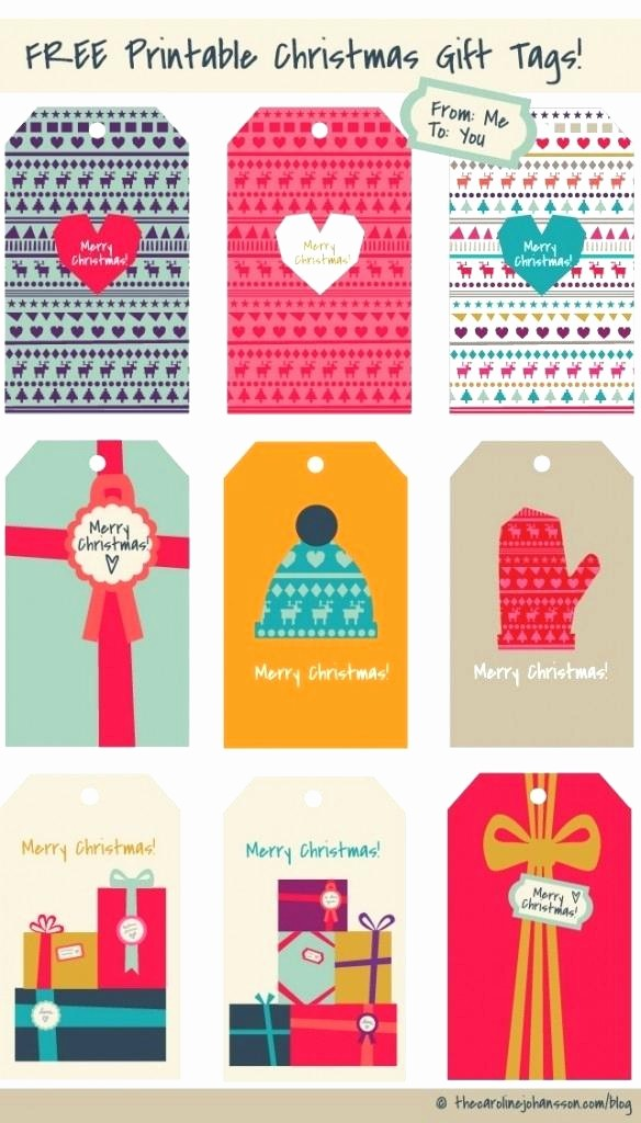 Christmas Gift Tags Template Free Lovely Free Downloadable Tags Tag Christmas Download Gift