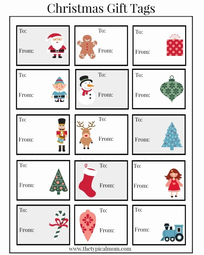 Christmas Gift Tags Template Free Lovely Free Printable Christmas Labels · the Typical Mom