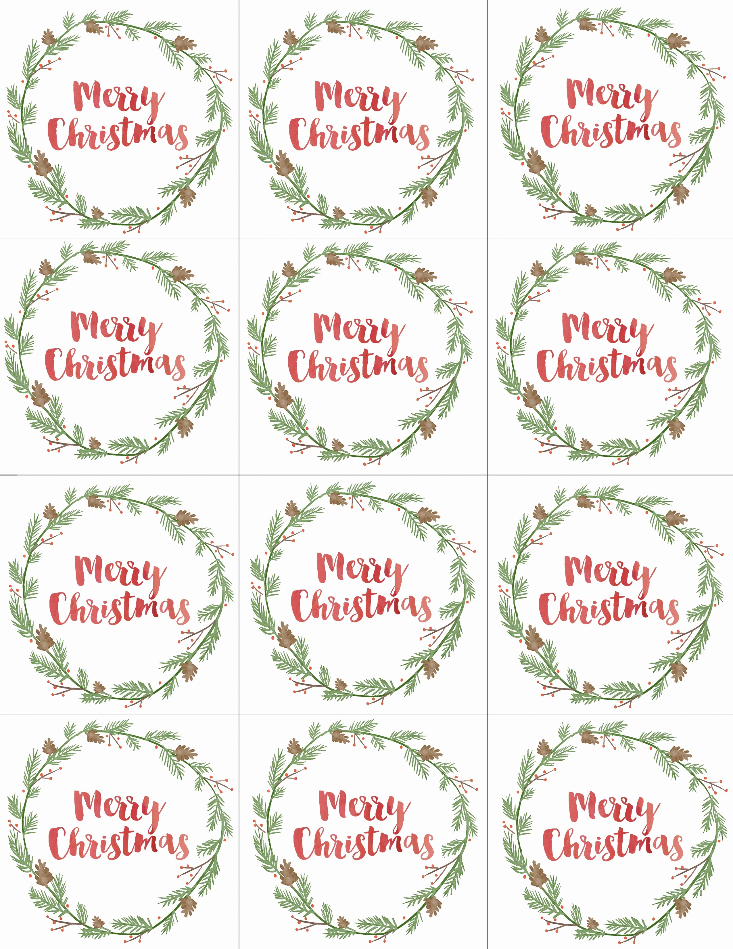 Christmas Gift Tags Template Free Lovely Hand Painted Gift Tags Free Printable Sweet Simple Living