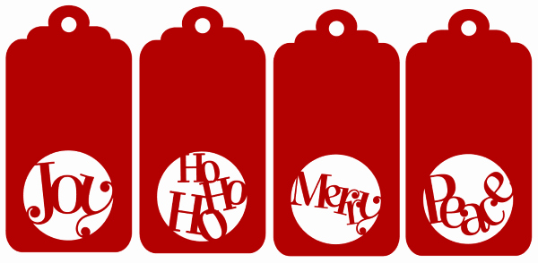 Christmas Gift Tags Template Free Lovely Quartet Of Christmas Gift Tags