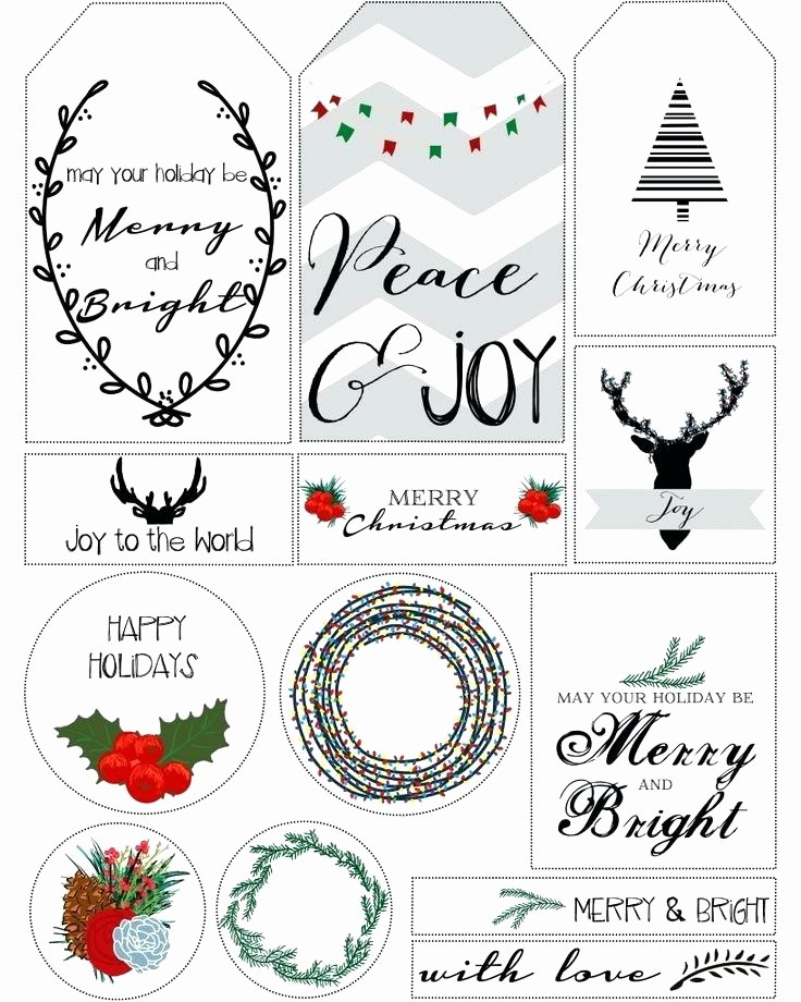 Christmas Gift Tags Template Free Luxury Free Printable Gift Tag Templates for Word A Blank