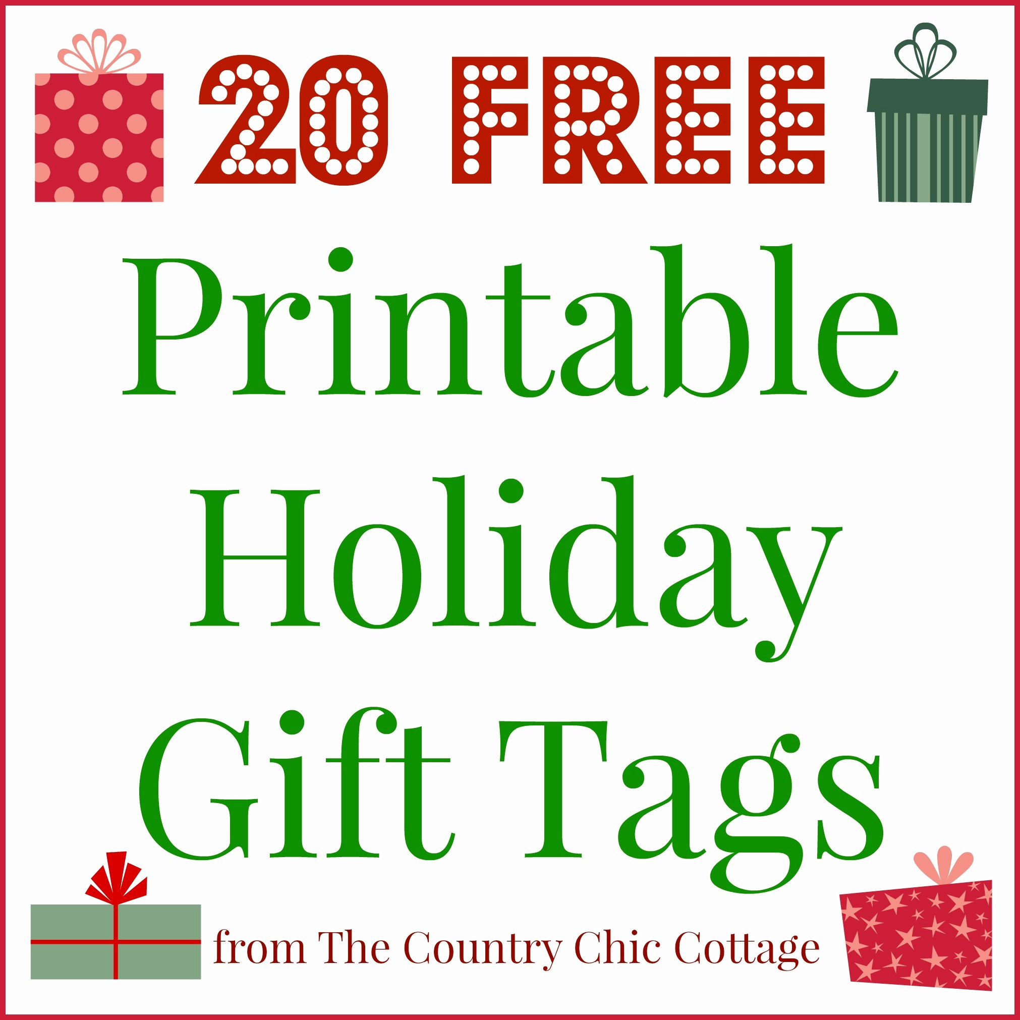 Christmas Gift Tags Template Free New 20 Printable Holiday Gift Tags for Free the Country