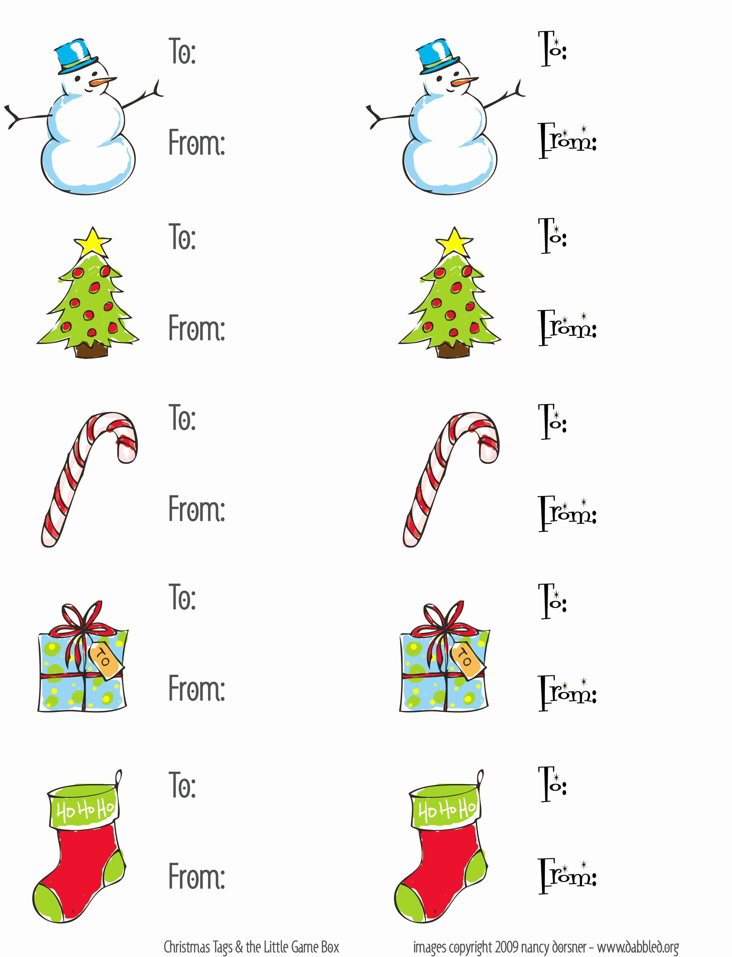 Christmas Gift Tags Template Free New Dabbled
