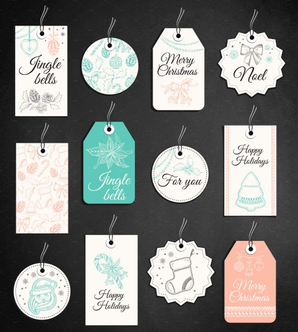 Christmas Gift Tags Template Free New Gift Tag Template 27 Free Printable Vector Eps Psd