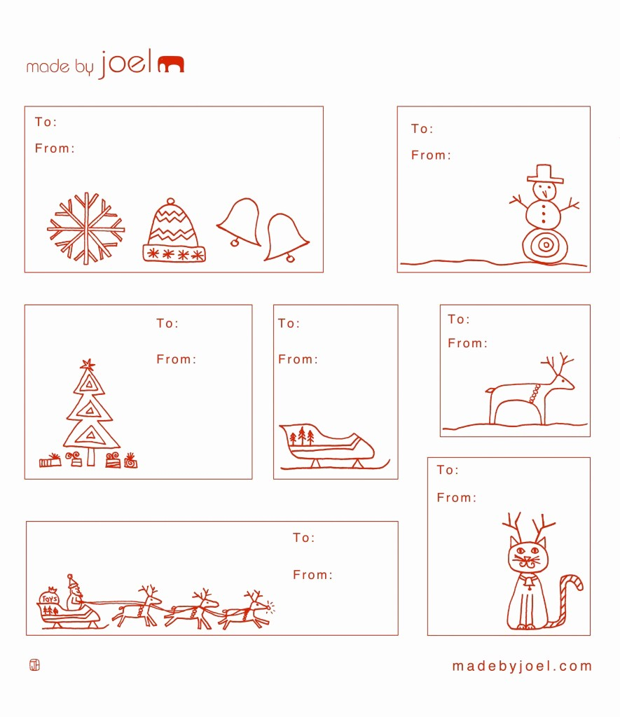 Christmas Gift Tags Template Free New Made by Joel Holiday Gift Tag Templates
