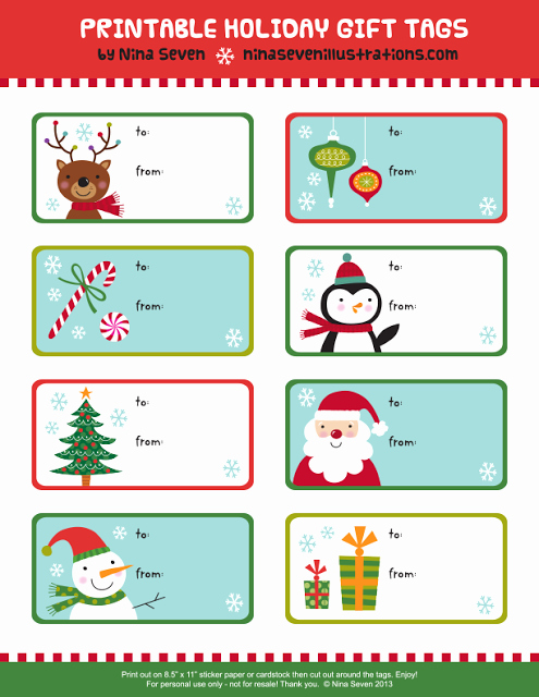Christmas Gift Tags Template Free New Printable Christmas Gift Tags – Happy Holidays