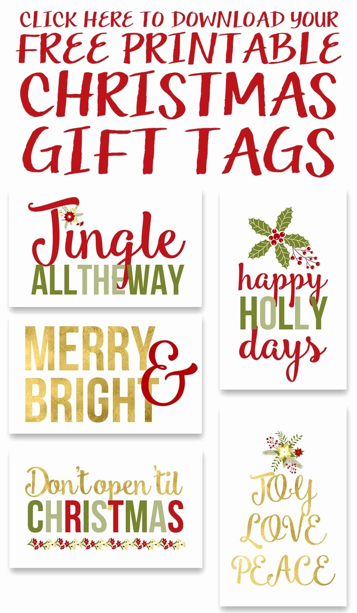 Christmas Gift Tags Template Free Unique Christmas Gift Tags Templates Free Download – Festival