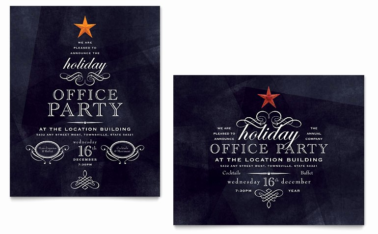 Christmas Invitations Templates Free Microsoft Awesome Fice Holiday Party Poster Template Word & Publisher