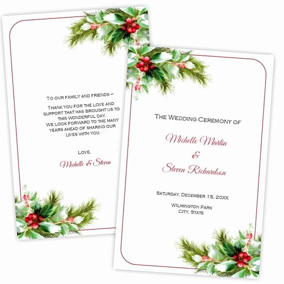 folded wedding program template