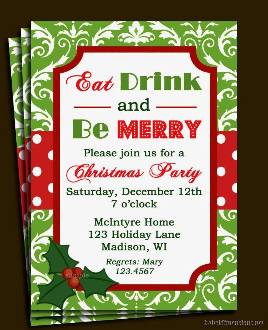 Christmas Invitations Templates Free Microsoft Inspirational Christmas Party Invitation Template