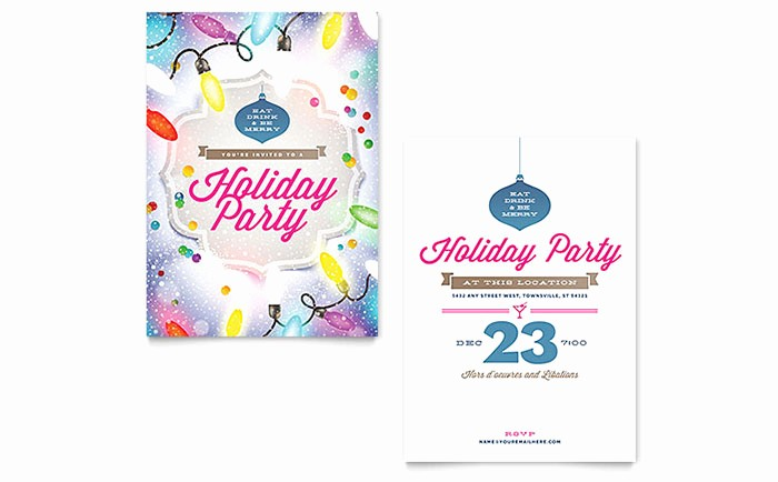 Christmas Invitations Templates Free Microsoft Inspirational Holiday Party Invitation Template Word & Publisher