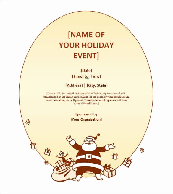 Christmas Invitations Templates Free Microsoft Lovely 69 Microsoft Invitation Templates Word