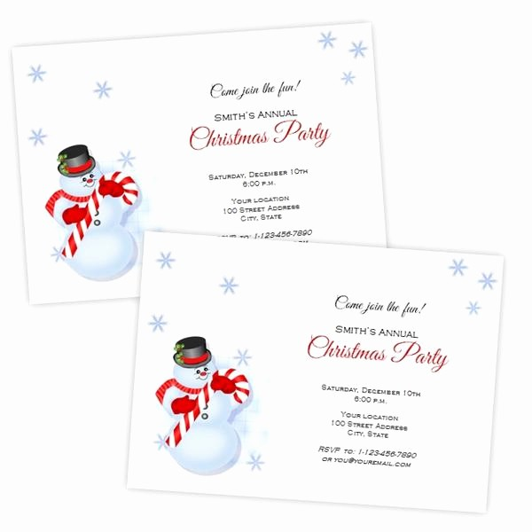 Christmas Invitations Templates Free Microsoft Luxury Snowman Christmas Invitation Template – A J S Prints